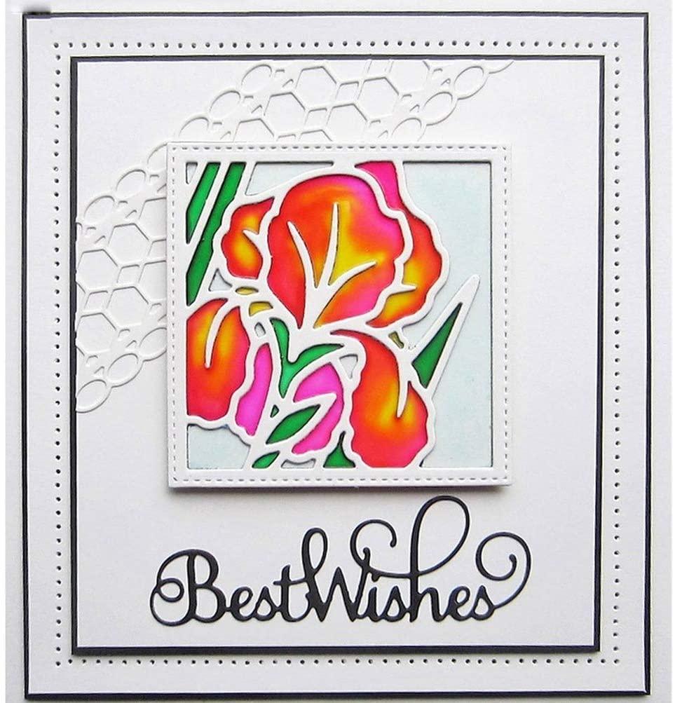 Flower Frame Metal Cutting Dies Stencils For DIY Scrapbooking Decoration Embossing Paper Cards Handcraft Die Cut
