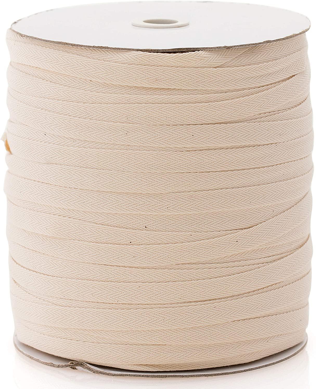 Beyond Trim Twill Tape Ribbon - 100% Cotton Herringbone Fabric Roll Sewing Crafts DIY Webbing Bias Binding Gift Wrapping Home Decor 30 Yard Nature 3/4 Inch