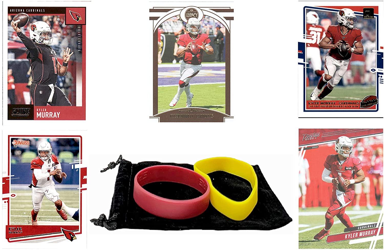 Kyler Murray Football Cards Assorted (5) Bundle - Arizona Cardinals Trading Card Gift Set