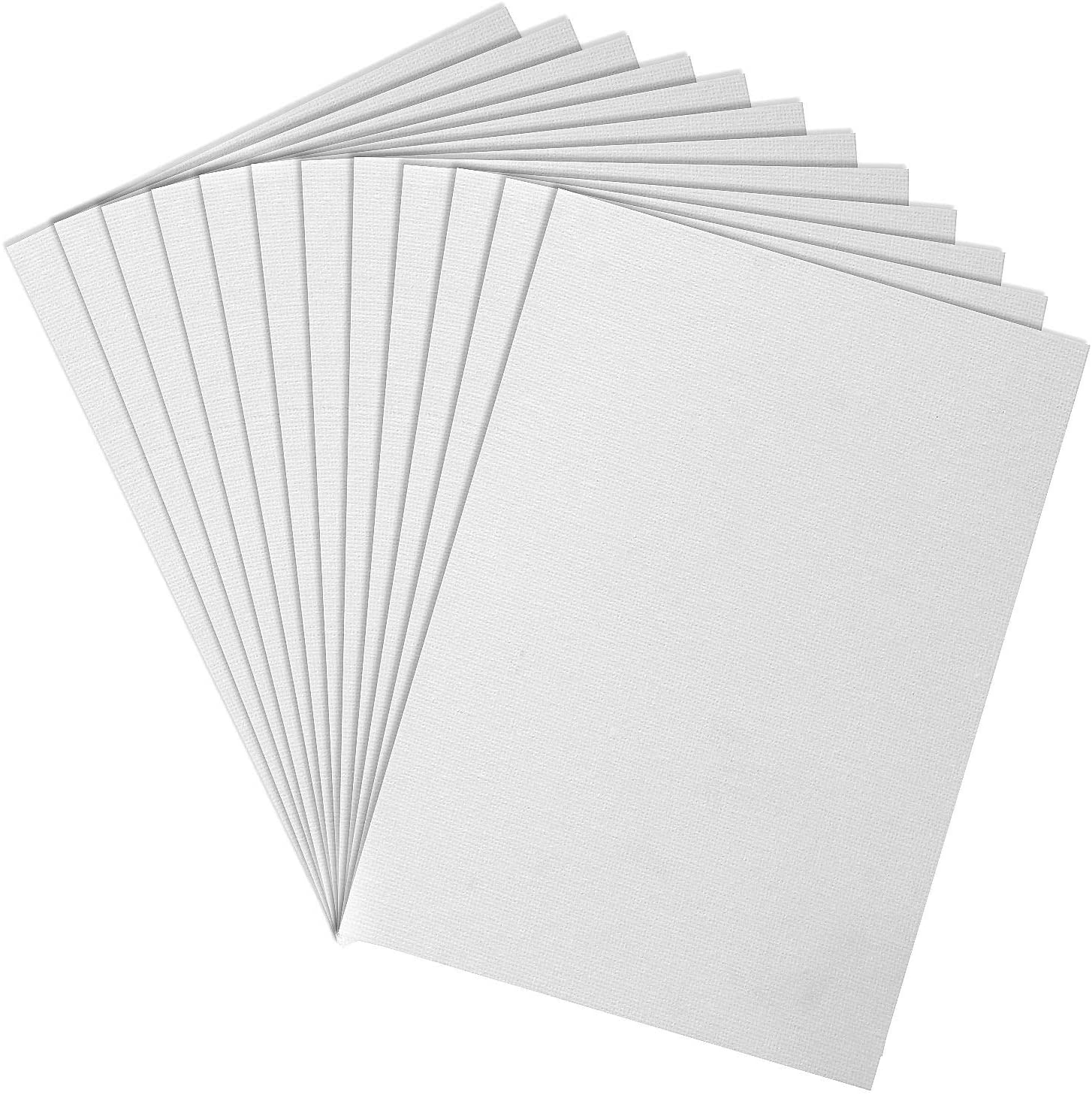 LANIAKEA Painting Canvas Panels Boards 5x7 Inch Art Canvas 12 Pack Mini Canvases Artist Canvas Boards White Blank Canvas Panels for Painting