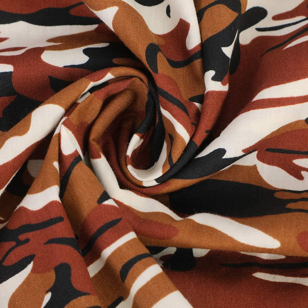 CALOFE Camouflage Print Fabric Cotton 39.4