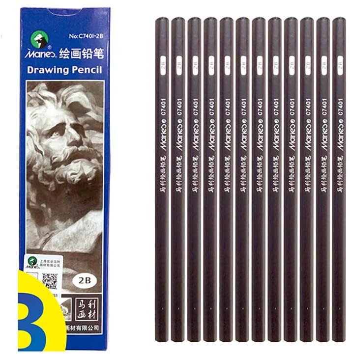 Sketching Pencil, Professional Drawing Pencil, Special Pencil For Beginner Art-Charcoal (2B)