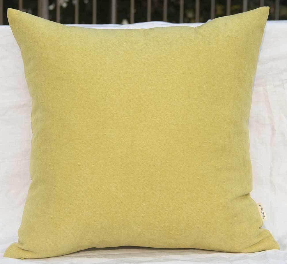 TangDepot Solid Wool-Like Throw Pillow Cover/Euro Sham/Cushion Sham, Super Luxury Soft Pillow Cases - Handmade - Many Colors & Sizes Avaliable - (16