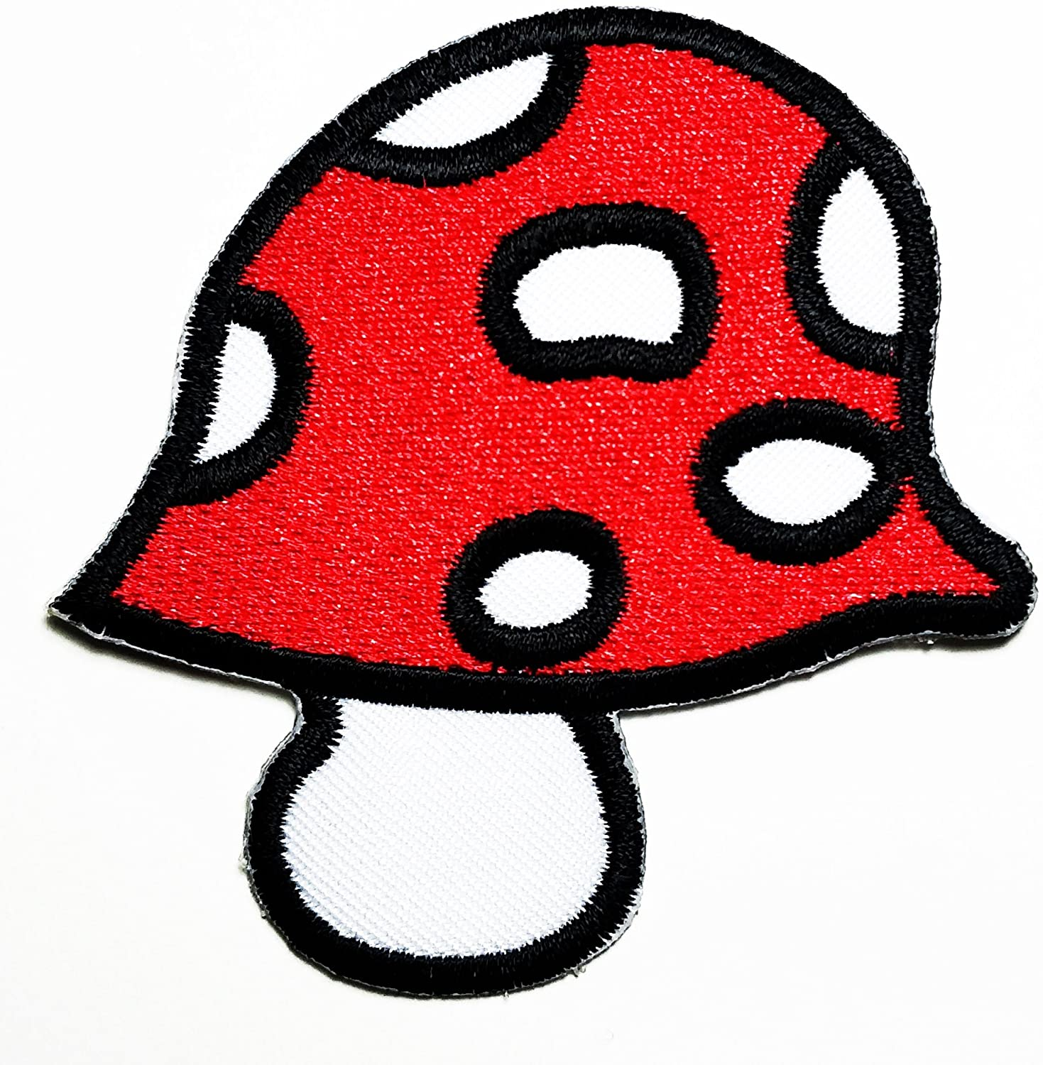 HHO Cute Pretty Mushroom Patch Embroidered DIY Patches, Cute Applique Sew Iron on Kids Craft Patch for Bags Jackets Jeans Clothes