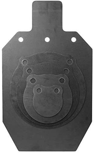 KRATE Tactical AR500 Steel Shooting Targets – 3/8 – Made in The USA – Metal Silhouettes and Gongs for Shooting Range and Gun Practice with Rifles, Handguns and Shotguns