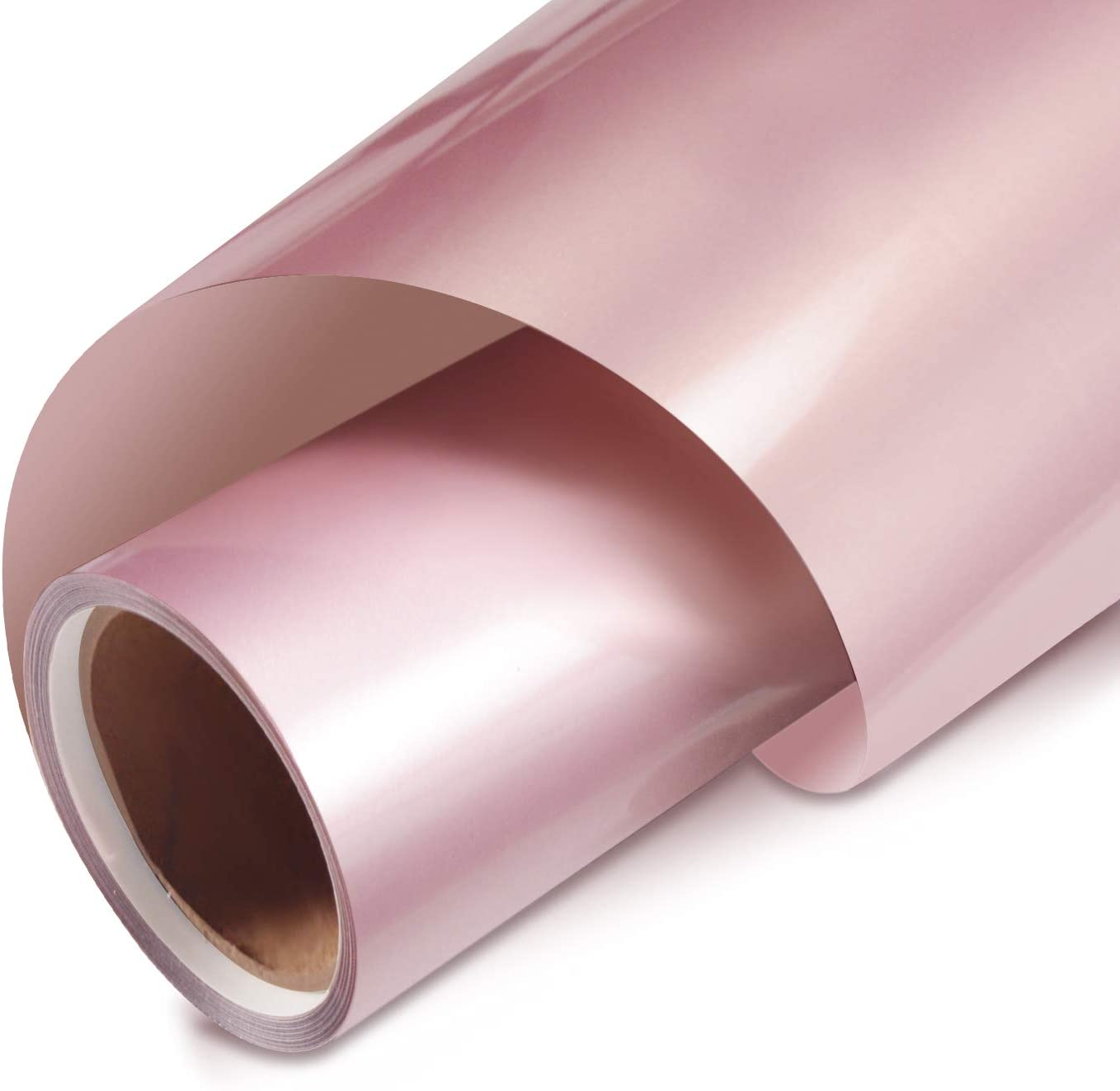 Rose Gold Vinyl Heat Transfer Vinyl Iron on HTV Vinyl Roll 12 Inches by 5 FT for T-Shirts,Rose Gold
