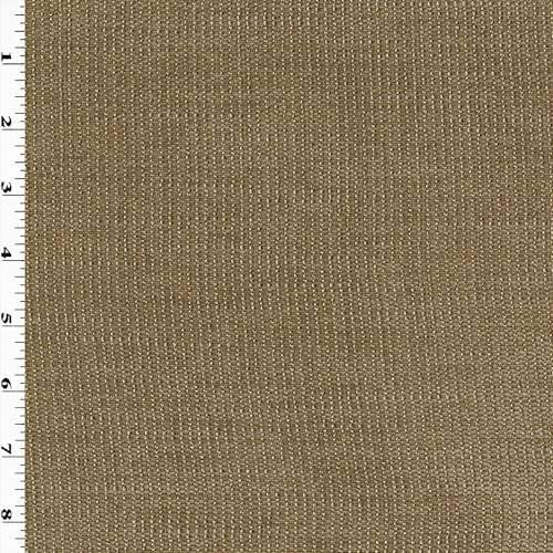 Taupe Brown Texture Woven Home Decorating Fabric, Fabric by The Yard