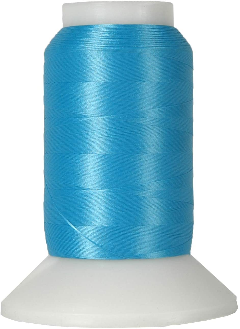 Threadart Wooly Nylon Thread - 1000m Spools - Color 9143 - TURQUOISE - Serger Sewing Stretchy Thread - 50 Colors Available