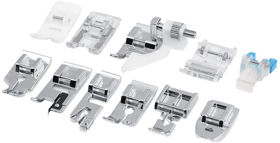 SunshineFace 11pcs/Set Household Sewing Machine Parts, Quilting Zipper Walking Foot Presser Feet Kit