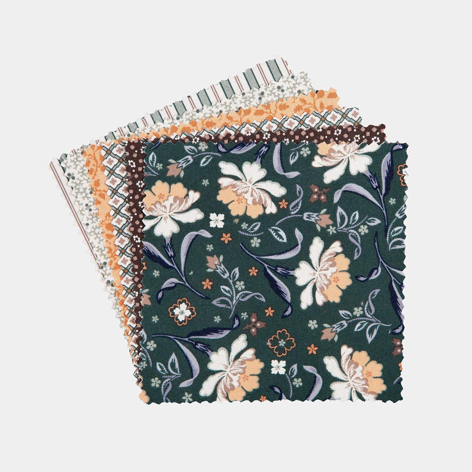 Connecting Threads Print Collection Precut Cotton Quilting Fabric Bundle 5