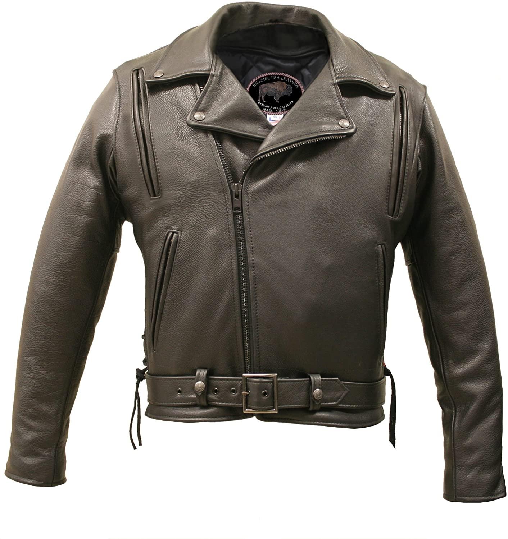 American Bison Vented Biker Jacket (52)
