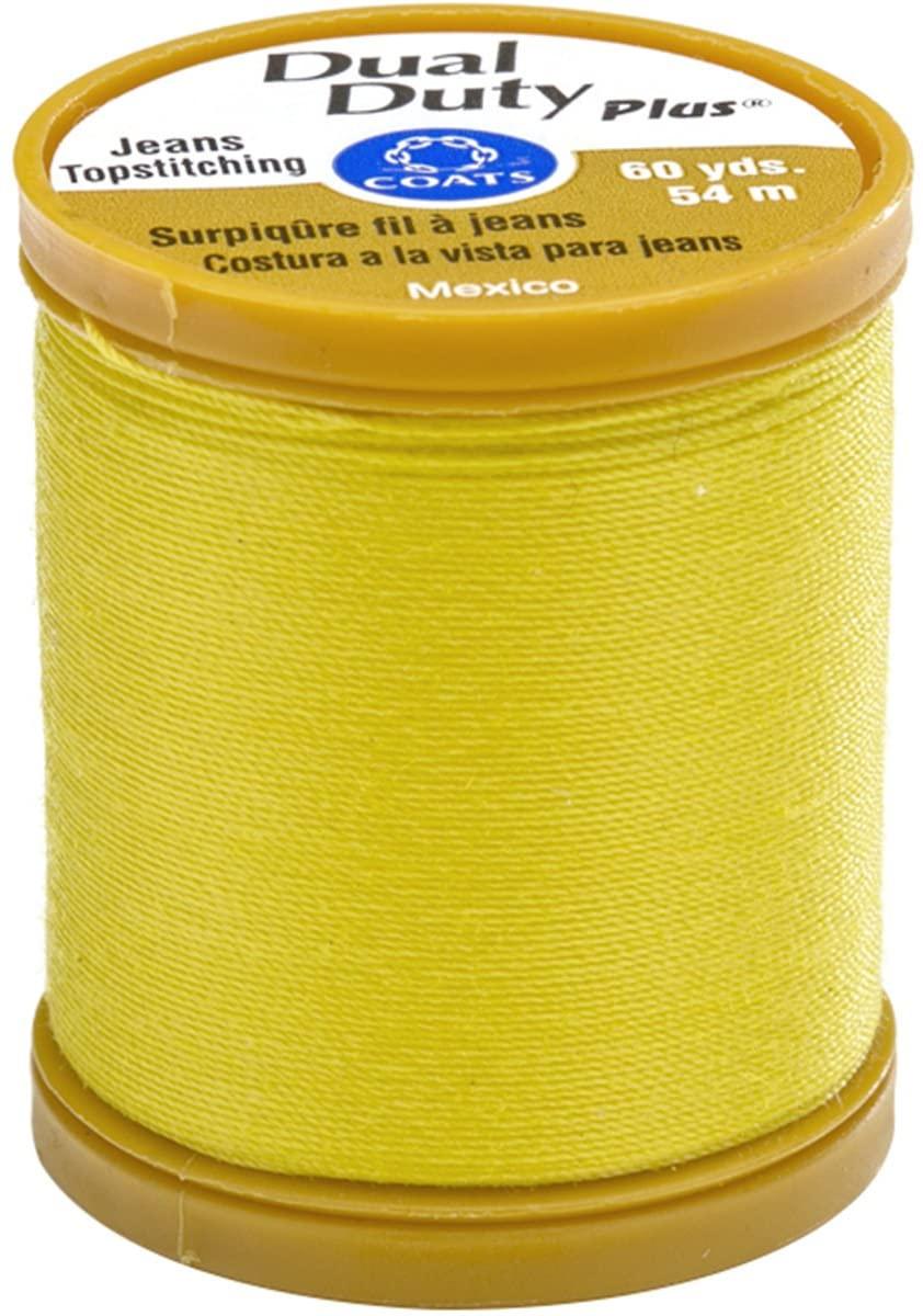 Coats S977-7260 Dual Duty Plus Jean & Topstitching Thread, Mimosa