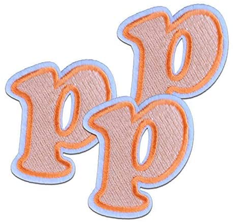 OrangeP Letter Iron on Patches 3pcs Childrens Alphabet Letter Iron on Patches Approx. 2.15 x1.81 inches