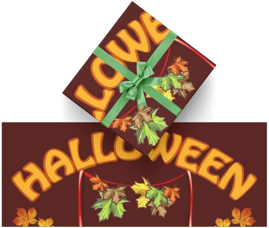 Wrapping Paper Halloween Pumpkin for Christmas, Birthday, Valentines Day, Bridal or Baby Showers - 3Rolls - 58inch x 23inch Per Roll