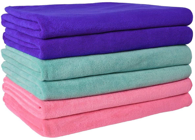 JML Microfiber Towels, Bath Towel Sets (6 Pack, 27