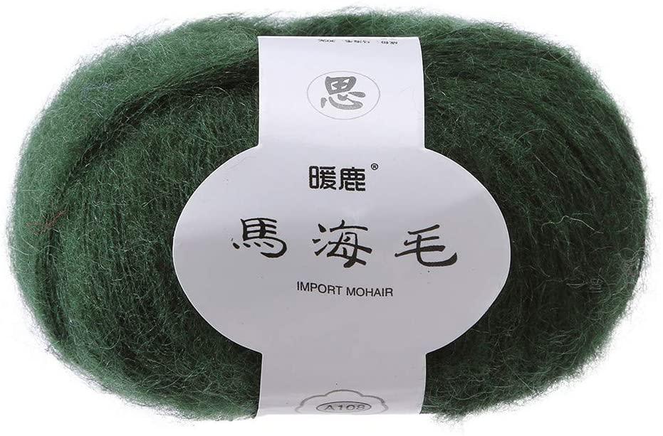 Clearance Sale !! Wool Yarn, Mohair Knitting Wool Yarn Crochet Yarn Knitting Fine Baby Yarn for Crochet, Knitting & Crafting Stretch Thread Crochet Hand Knitting (N)