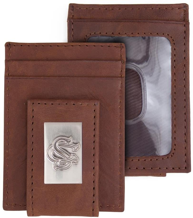 Eagles Wings South Carolina Gamecocks Wallet Front Pocket Leather Wallet