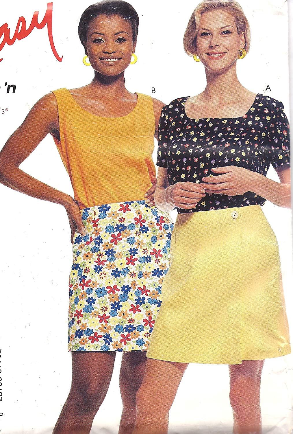8770 McCalls Sewing Pattern Uncut Misses Tops Skort Size 8 10 12 14