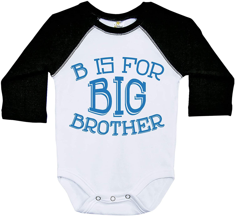 Big Brother Onesie, B is for Big Brother, Raglan Baby Onesie, Long Sleeve Onesie