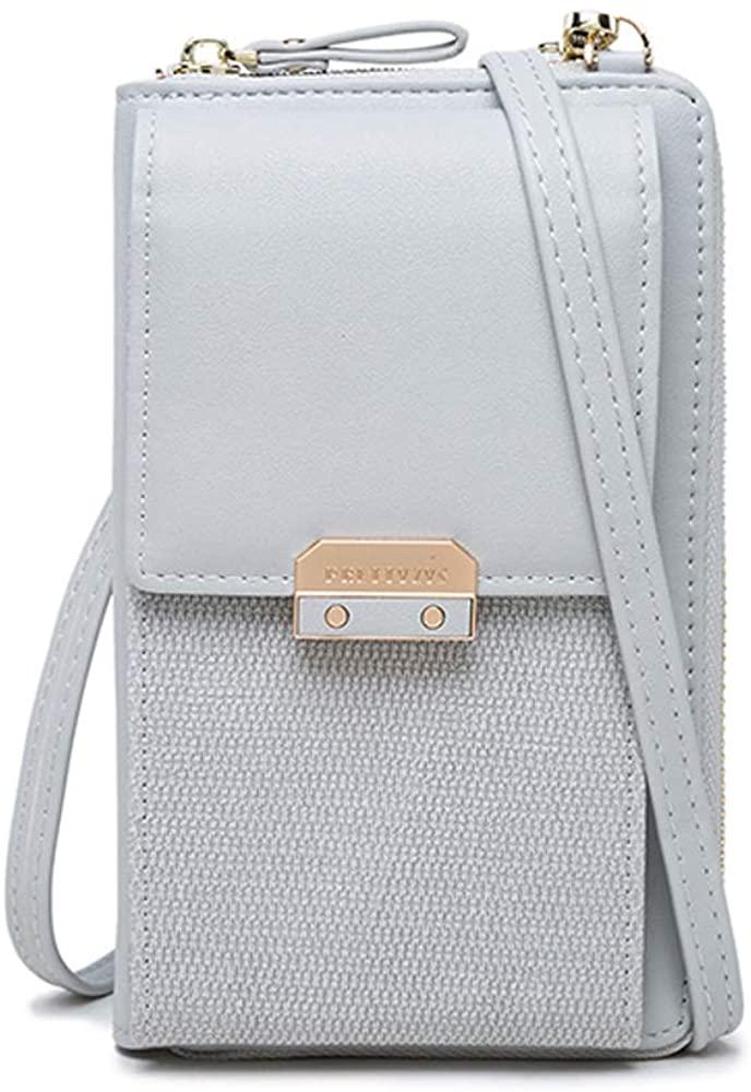 Katech Ladies Phone Bag Small Crossbody Bag PU Leather Mini Shoulder Handbags