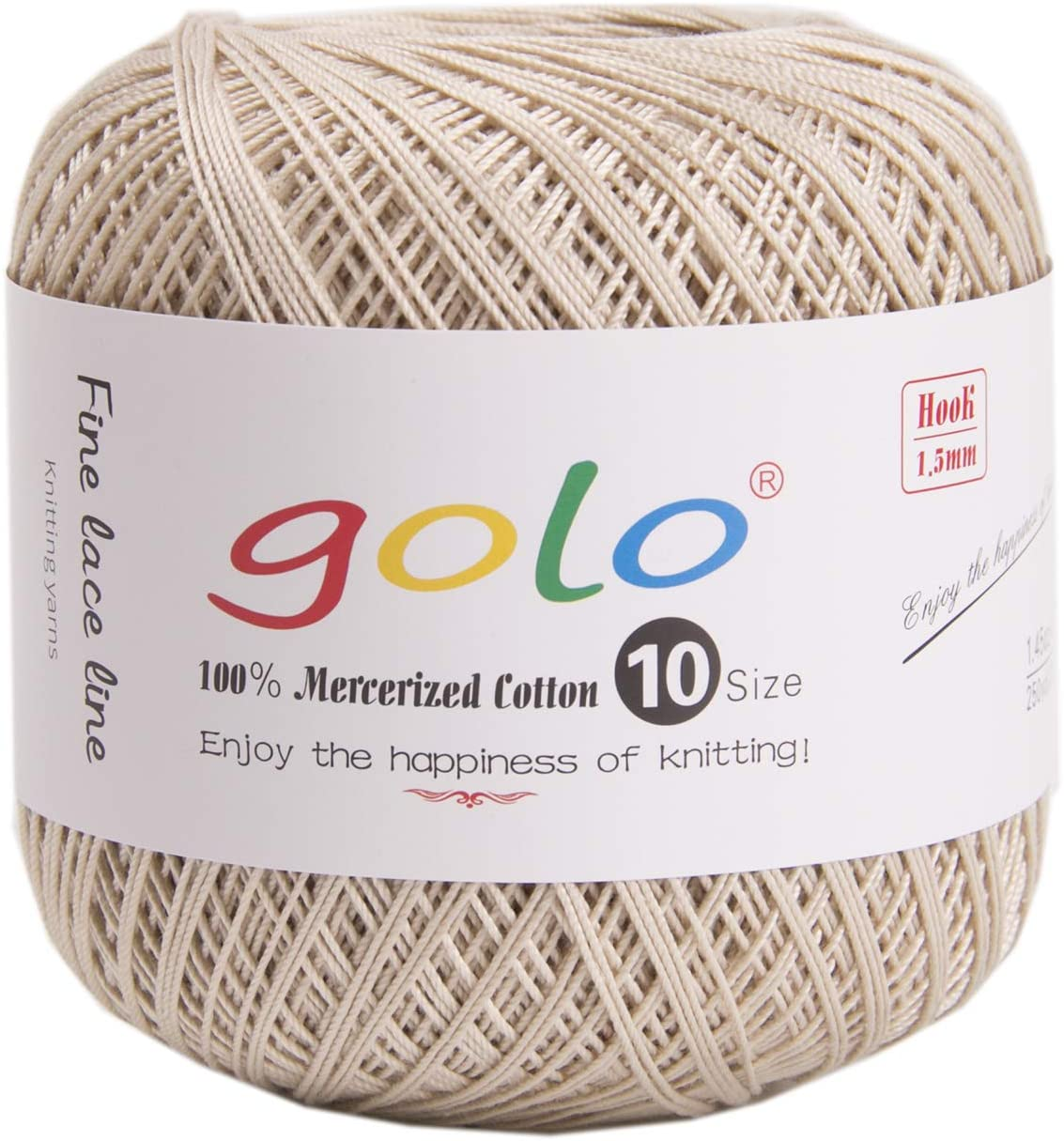 golo Crochet Thread for Begingers Size 10 Coffee Color Yarn