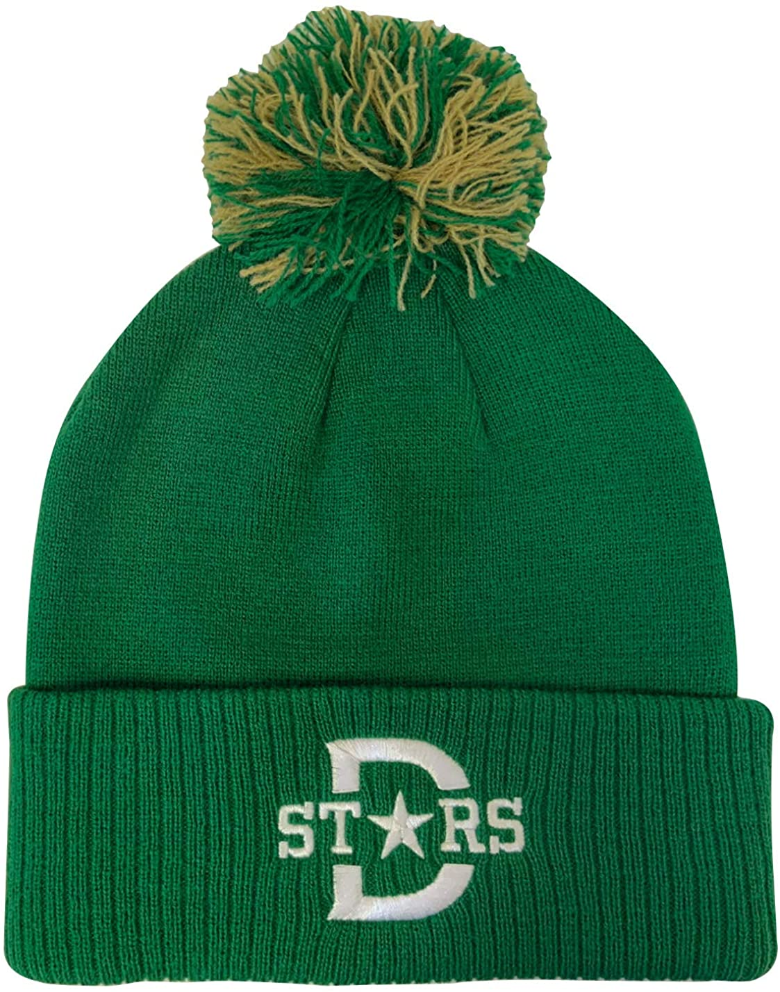 adidas Mens Dallas Stars 2020 Winter Classic Knit Hat with Pom