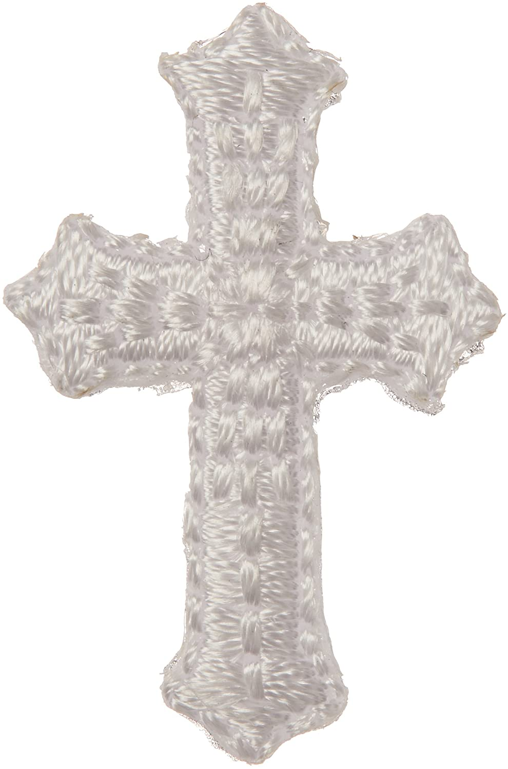 Wright Products Bold Faith Iron-On Appliques-Mini White Cross 1-1/8