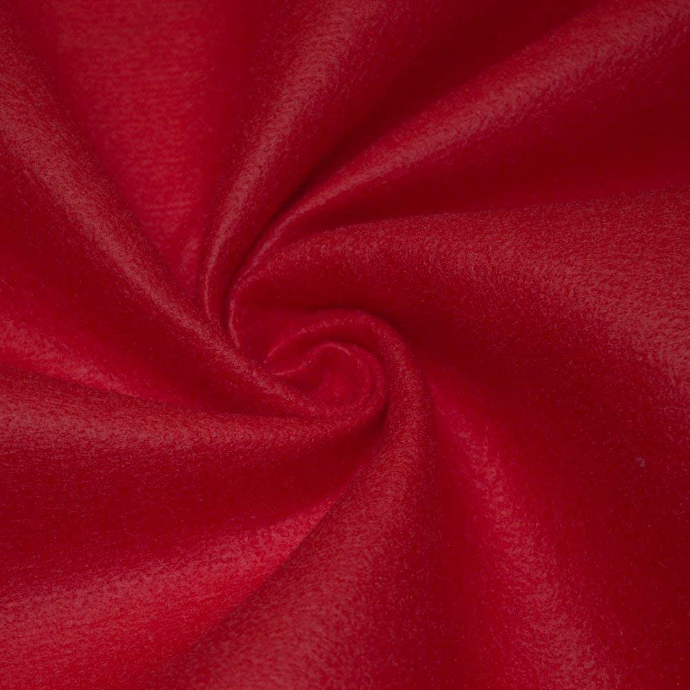 "AK TRADING CO. 72-Inch Wide 1/16"" Thick Acrylic Felt Fabric for Arts & Crafts, Cushion and Padding, Sewing Projects, Kids School Projects, DIY Projects & More. - Red, 5 Yards"