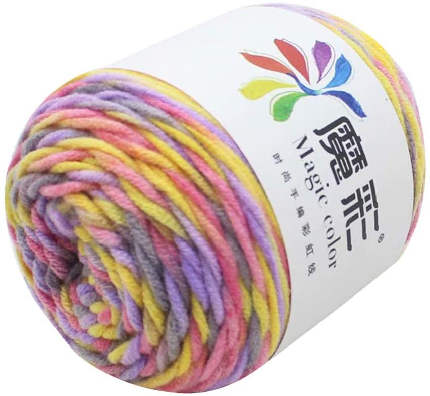 5 Strands of Rainbow Cotton Crochet DIY Sweater Scarf Line Cotton Wool Thread Garden Home Improvement Tools