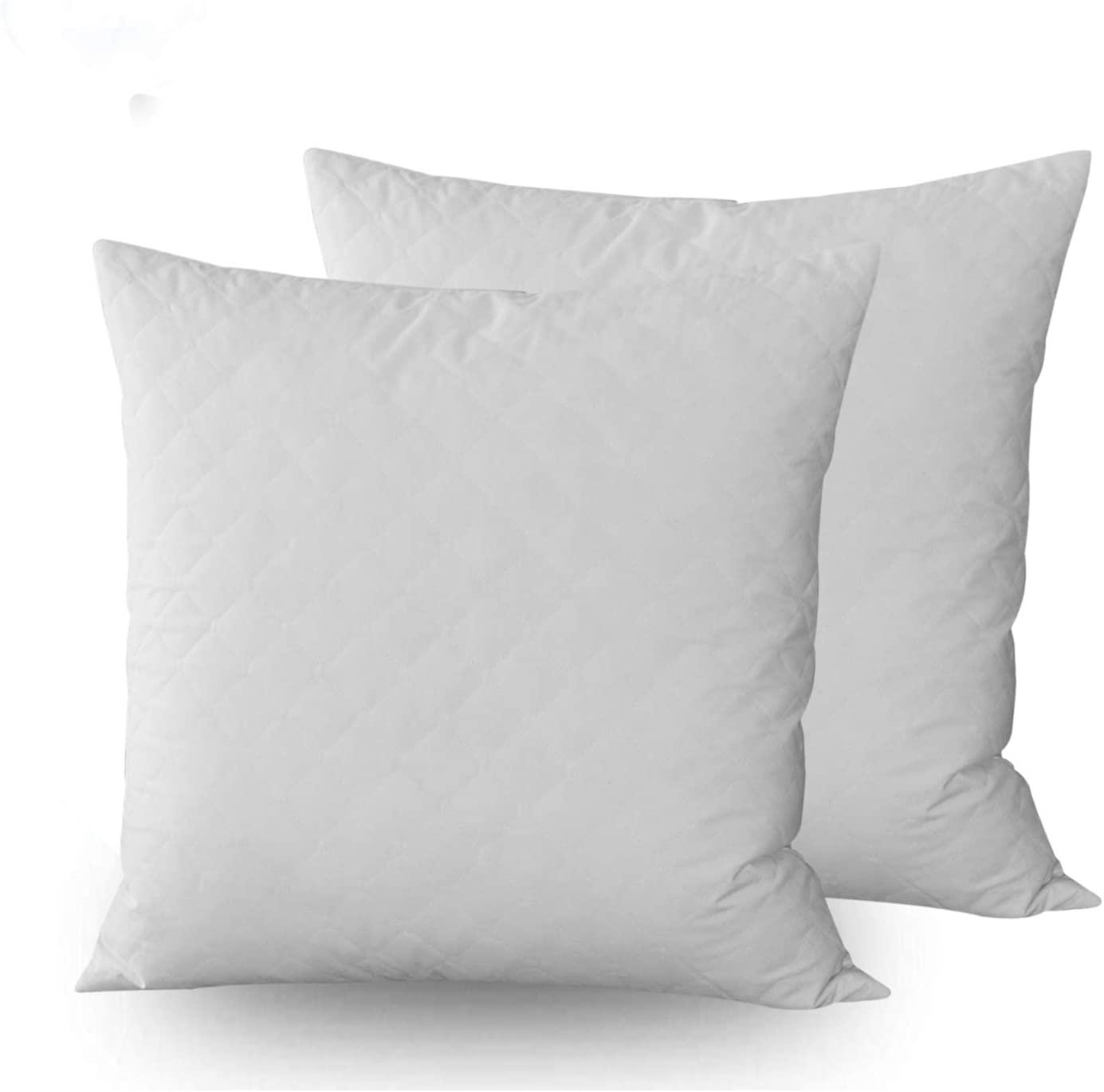 Dream High Premium Goose Down Feather Throw Pillow Inserts(Set of 2)-100% Cotton Cover, Square,Luxury Soft Plush,Premium Stuffer Down,Machine Wash,Cushion (24x24)