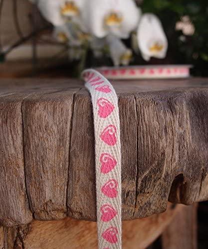 POSHNPRETTY Vibrant 100% Natural Print Cotton Twill Ribbon, 3/8