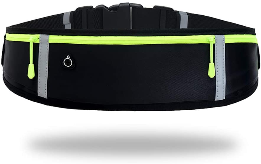 GORWRICH Running Belt with Waterproof Adjustable Elastic Strap, Sweatproof waistpacks with Large Capacity, Perfect for Running and Outdoor Activities