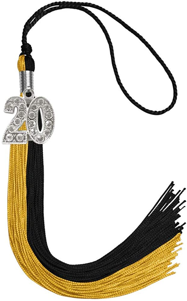 Endea Graduation Double Color Tassel With Silver Bling Charm
