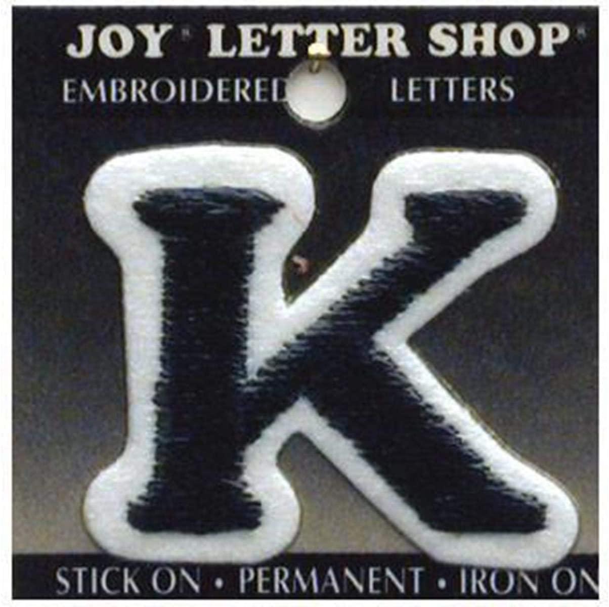Joy Applique Letter Iron On Cooper 1.5 Black K