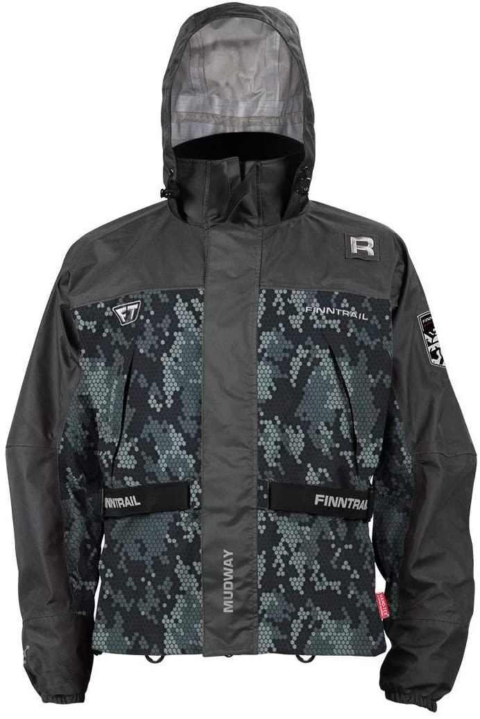 SuperATV Waterproof Lightweight Mudway Jacket for Off Road Riding ATV/UTV - Camo Gray - Medium