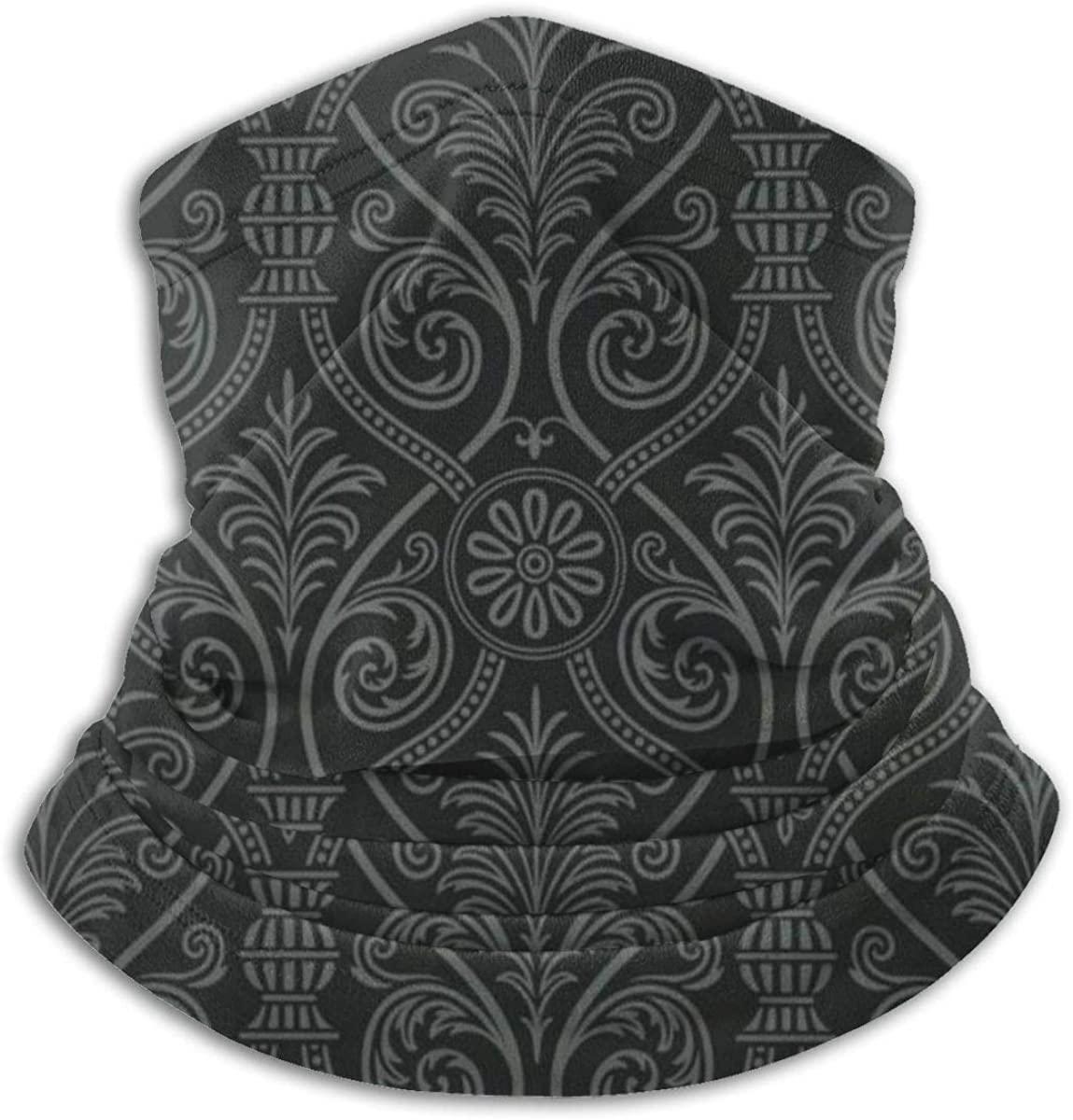 QBahoe Antique Baroque Mild Ombre Gothic Unisex Fleece Neck Warmer Windproof Winter Neck Gaiter Cold Weather Face Mask for Men Women