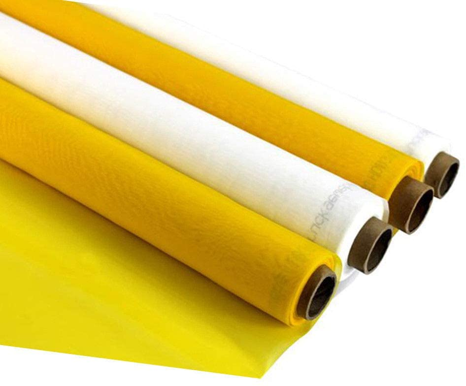 A Roll of 40 Yards Long Silk Screen Printing Mesh Fabric Polyester Material Silk Stencil Printing Fabric (100M / 40T Mesh-63 inches Wide)
