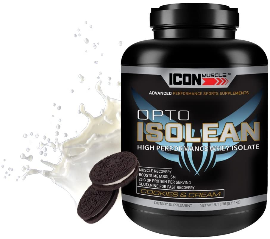 Icon Muscle Isolean Whey Protein Powder, Cookies & Cream, 5 Pound