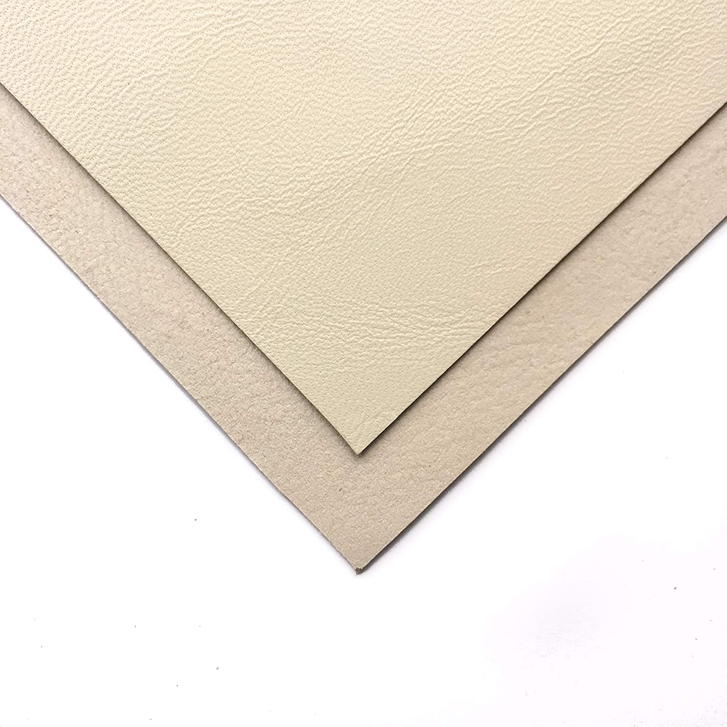 Off White Lambskin Leather Fabric: Real White Leather Material for Crafting and Bookbinding depending on The Leather Size (Warm White, 6x6In/ 15x15cm)