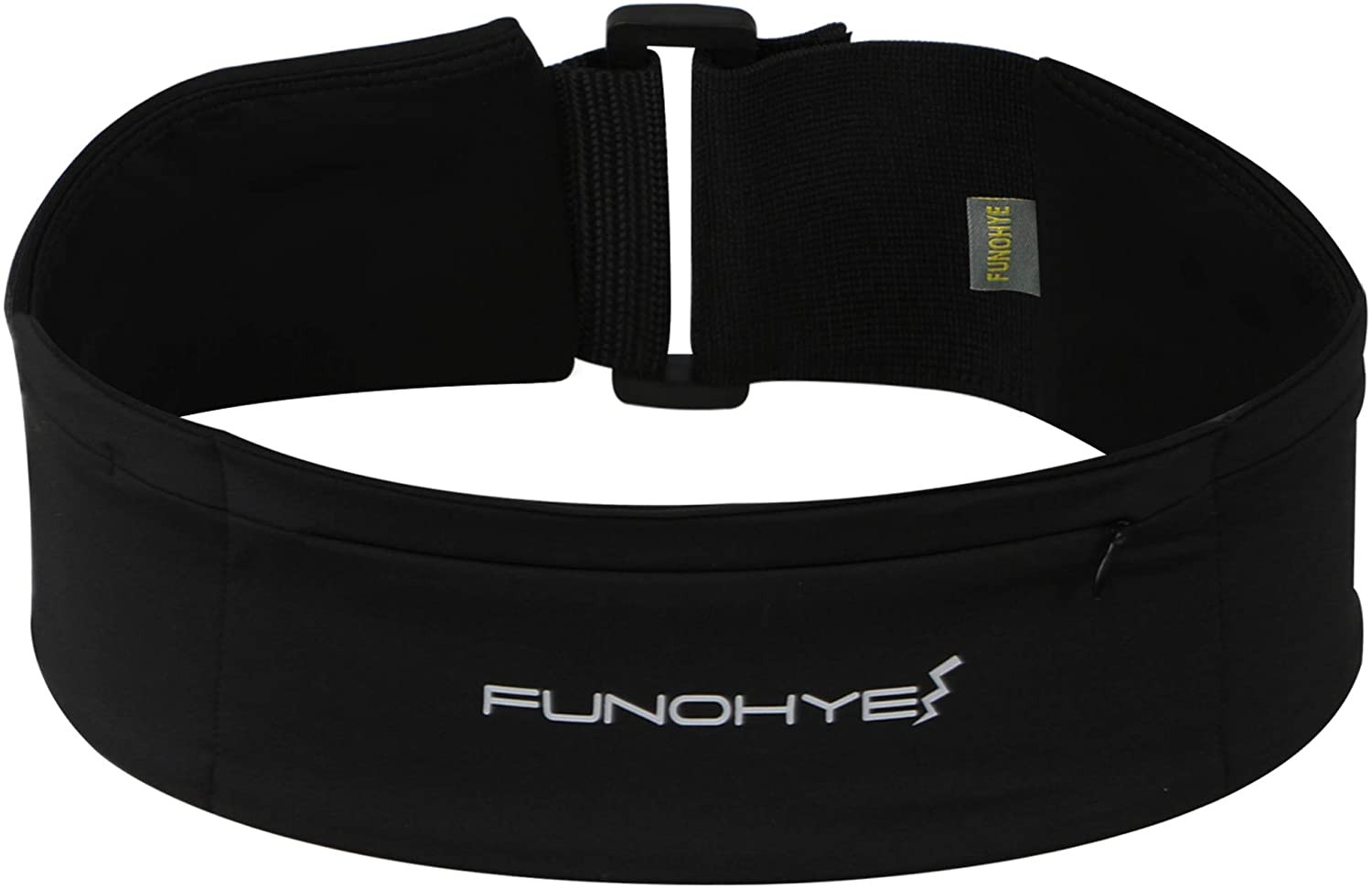 FUNOHYE Running Belt Waist Pack No-Bounce Adjustable Phone Pocket for All Kinds of Phones for Running Workouts Gym Yoga Cycling Rock Climbing Travelling and More