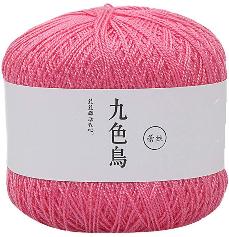 milkcha Home & Garden,Lace Thread DIY Woven Cotton Fine Cotton Thread Crochet Yarn 8th,Home Textiles