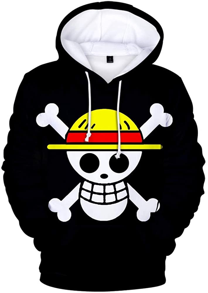 Generie OneL1fe Unisex 3D Printed with The Japanese Anime One Piece Hoodies