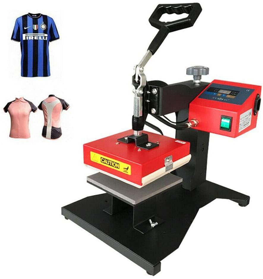 Heat Press Machine 110V 350W Digital Pen 3D Sublimation Transfer Logo DIY Printing T-Shirt Mug Hat Machine Swing Away 15x15cm USA Stock