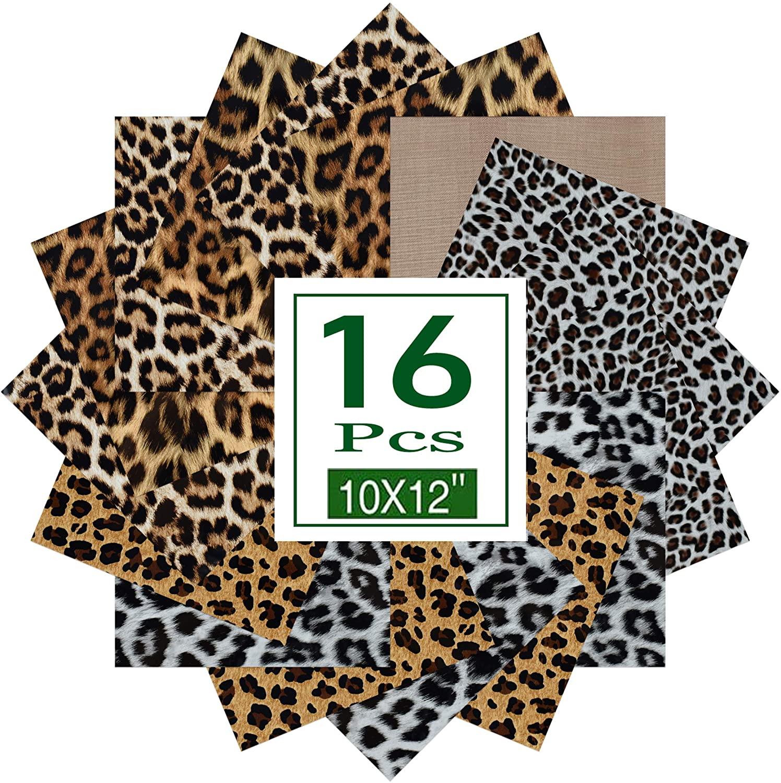 Leopard Patterned Heat Transfer Vinyl for T-Shirts 12x10