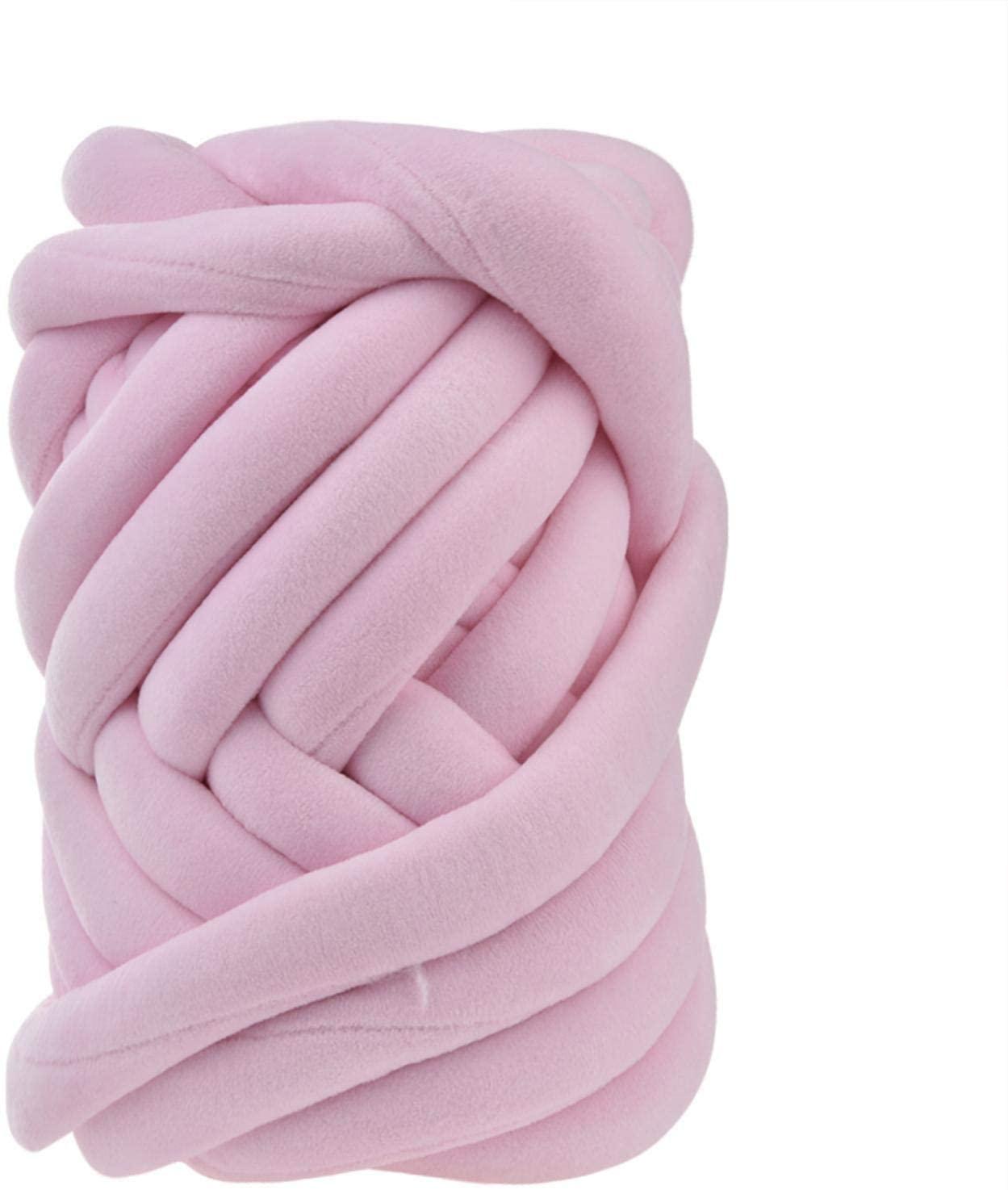 Soft Core Yarn, Multi - Coloured Soft Bulky Arm Knitting Wool Roving, DIY Hand Chunky Bulky Knitting Wool Yarn for Blanket Scarves Hats