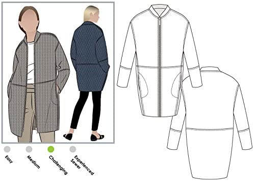 Style Arc Sewing Pattern - Casey Coat (Sizes 04-16) - Click for Other