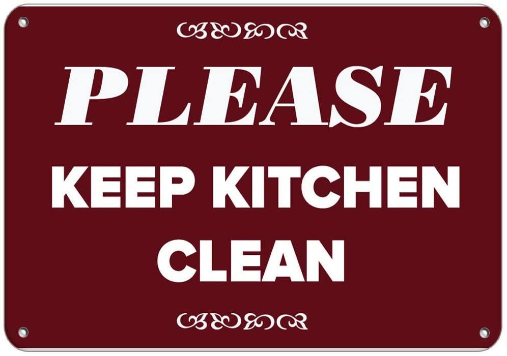 Please Keep Kitchen Clean Security Sign Vinyl Sticker Decal 8