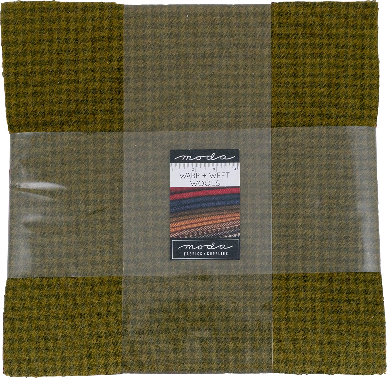 100% Wool Warm Layer Cake 12 10-inch Squares Moda Fabrics 54810LCW
