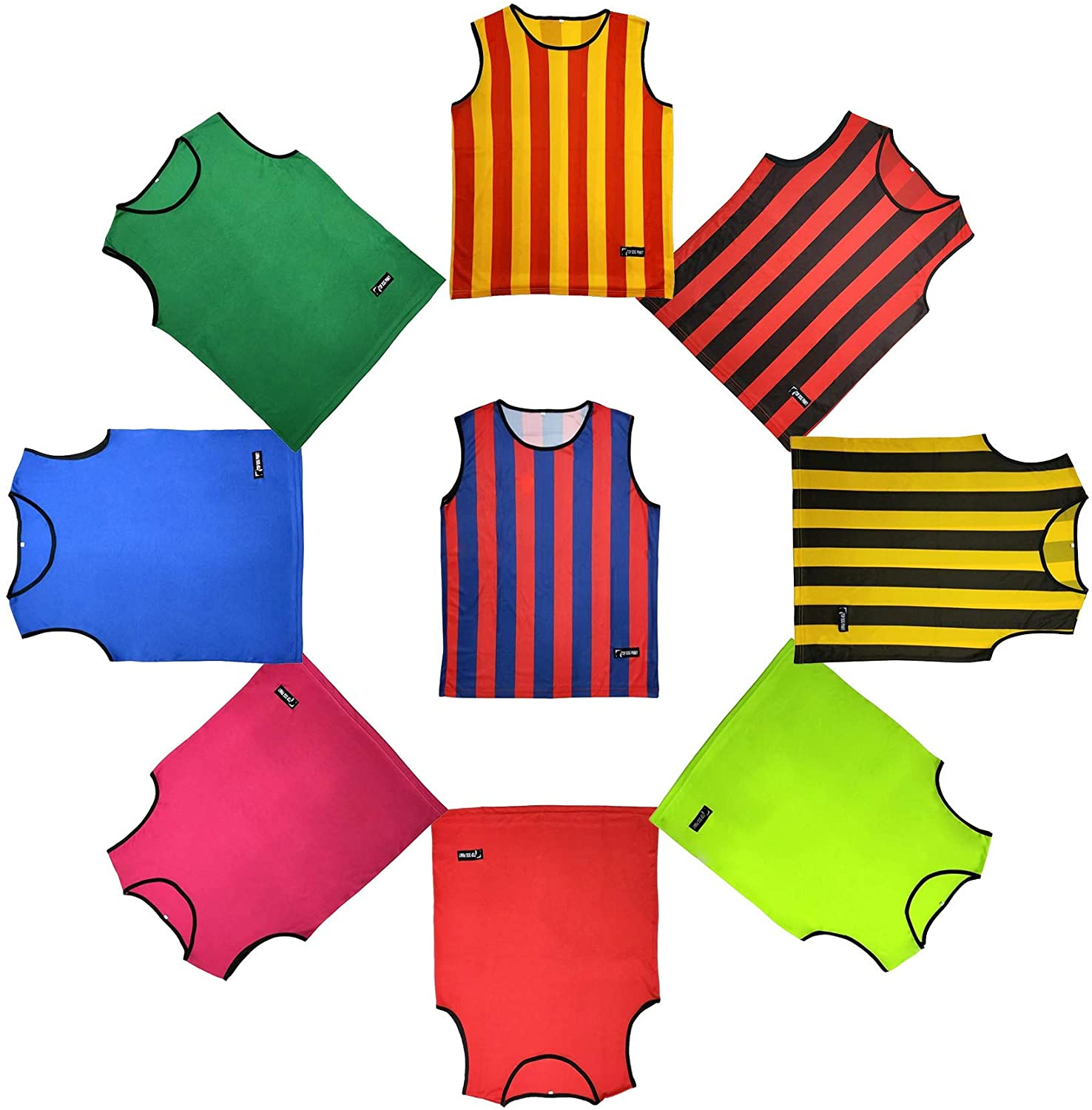 Top Dog Pinny Adult Scrimmage Pinnies for Sports Soccer Football Basketball Quick Dry 6 Pack XL