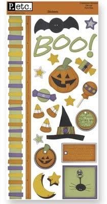 LargeHalloween Cardstock Stickers Sheet